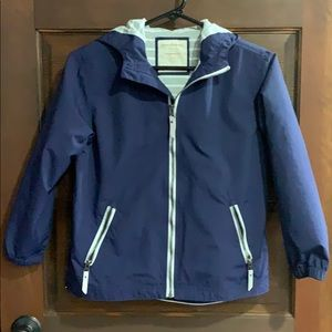 Hanna Andersson Raincoat Jacket Sz 10 140 Navy